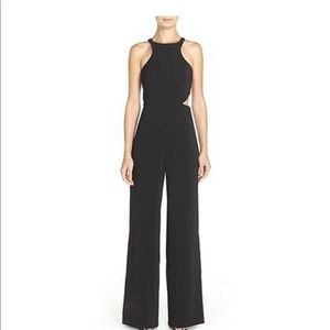 JAY GODFREY Cutout Jumpsuit Romper Black